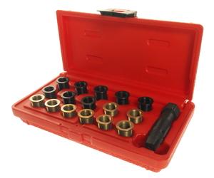 Набор инструментов для восстановления резьбы свечей зажиг. (втулки M12х1.25,L=12.7мм,19мм) 16шт. JTC-4314