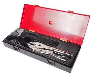 """Набор инструментов 3 предмета 10"""" (ключ разводной,клещи переставные,клещи с фиксатором) (кейс) JTC-К5031"""