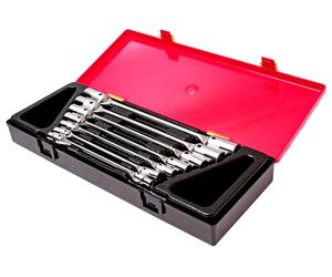 Набор ключей торцевых 6-19мм 12-ти гранных шарнирных 7 предметов JTC-K6072