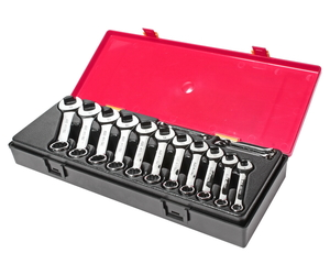 Набор ключей комбинированных 6-19мм 14 предметов в кейсе изгиб 15 град. укороченные JTC-K6143