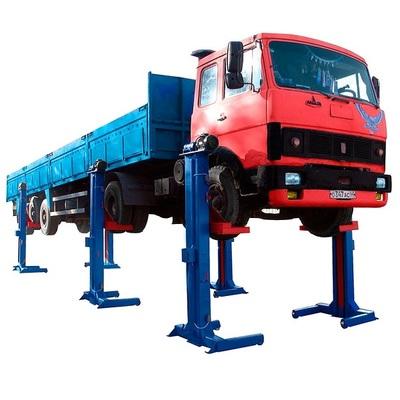 Подъемник для автобусов и троллейбусов четырехстоечный электромеханический на 30т  ПП-30М